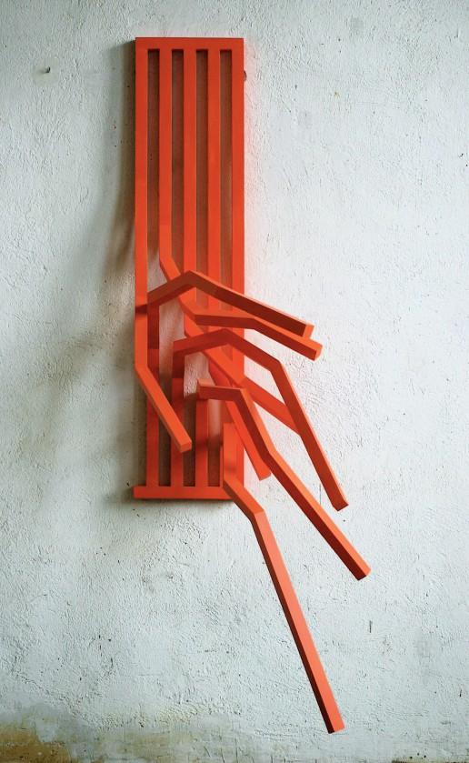 Wand-Skulptur aus Holz