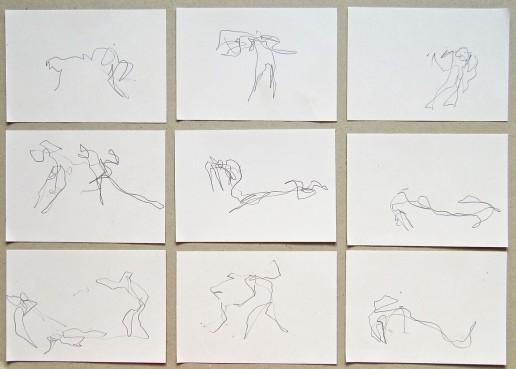 Skizzen-Zeichnung Ballett